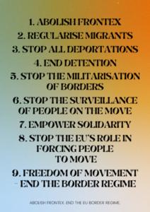 Abolish Frontex Demands EN